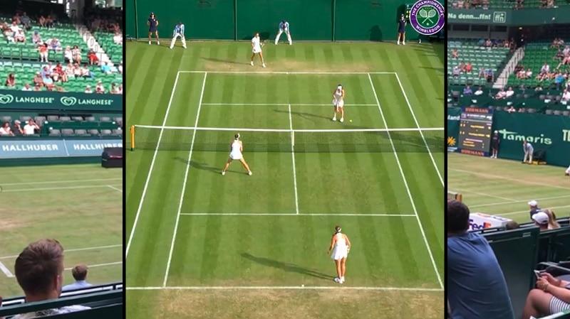 Video: Wimbledonin nelurissa nähtiin uskomattoman koominen piste