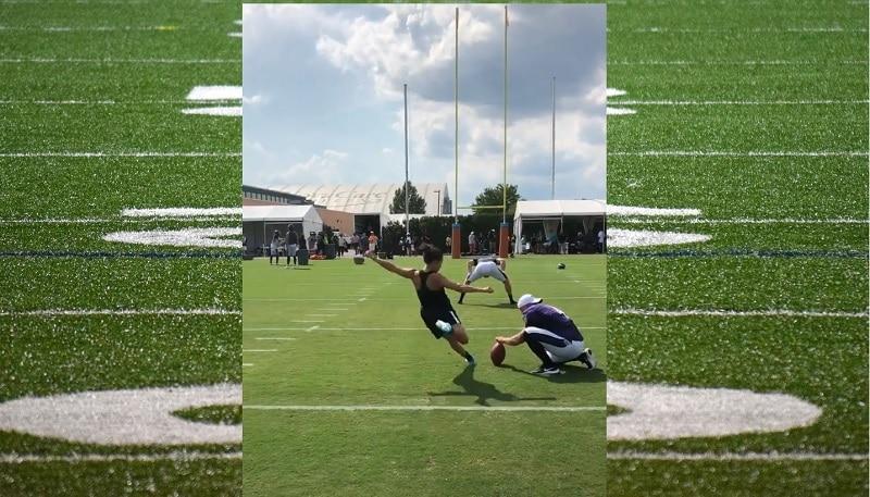 Video: USA:n naismaajoukkueen Carli Lloyd kajautti NFL-joukkueen treeneissä 55 jaardin potkumaalin