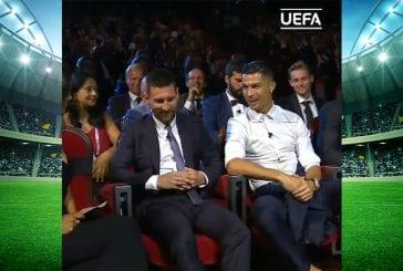 Video: Cristiano Ronaldo piti tyylikkään puheen Leo Messiä koskien