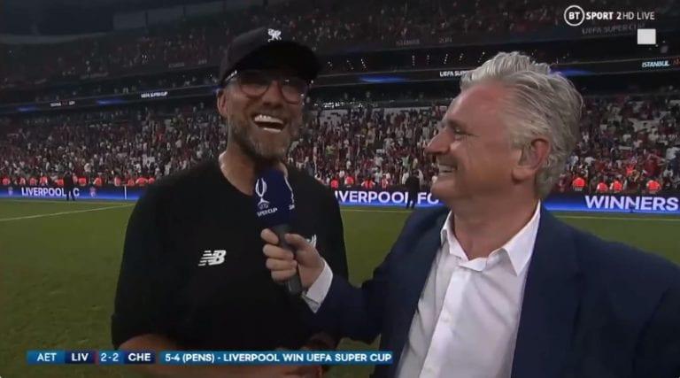 Video: Jürgen Klopp otti huumaa voitosta – imitoi Rocky Balboaa