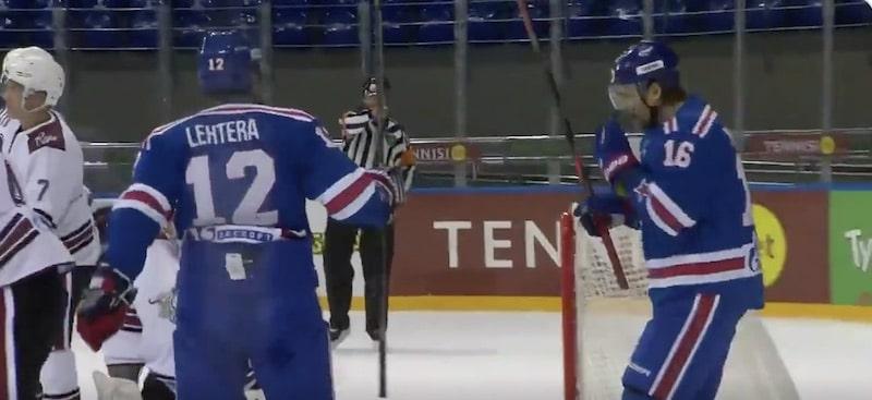 Video: Jori Lehterä painoi ensimmäisen runkosarjamaalin SKA Pietarin paidassa