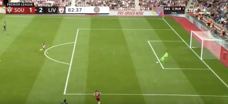 Video: Liverpool-veskarilta nähtiin äärettömän nolo moka Valioliigassa