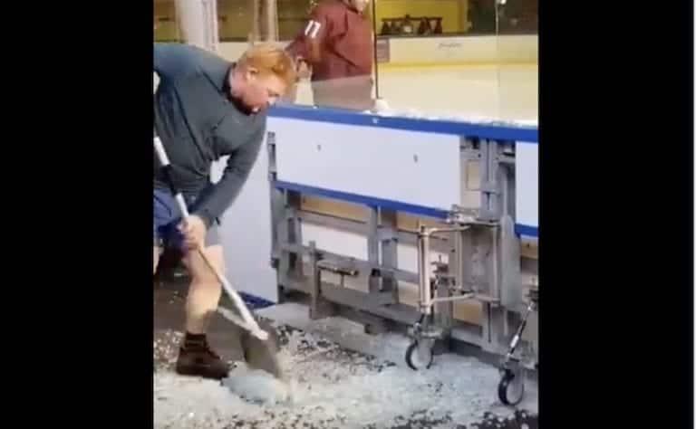 Video: Lukko-pelaajan hirmuniitti meni ohi – pleksi pamahti säpäleiksi