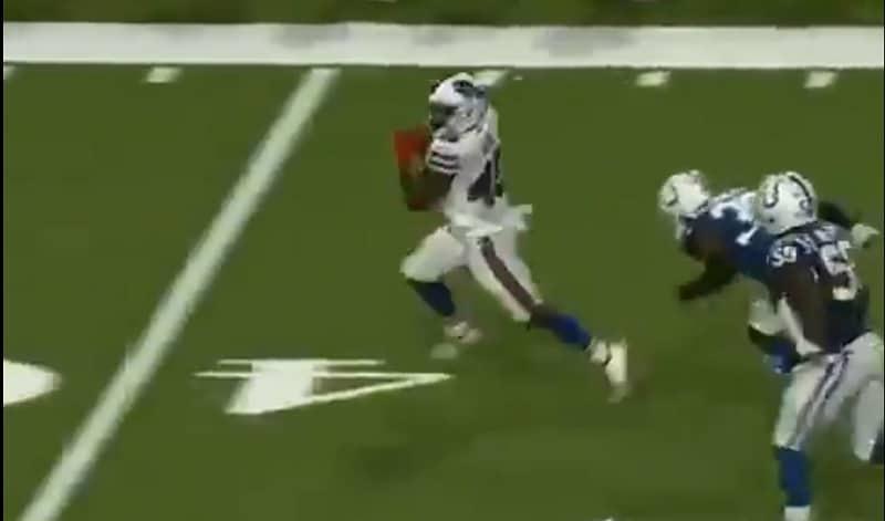 Video: Ex-rugbytähti Christian Wade juoksi upean touchdownin NFL-debyytissään