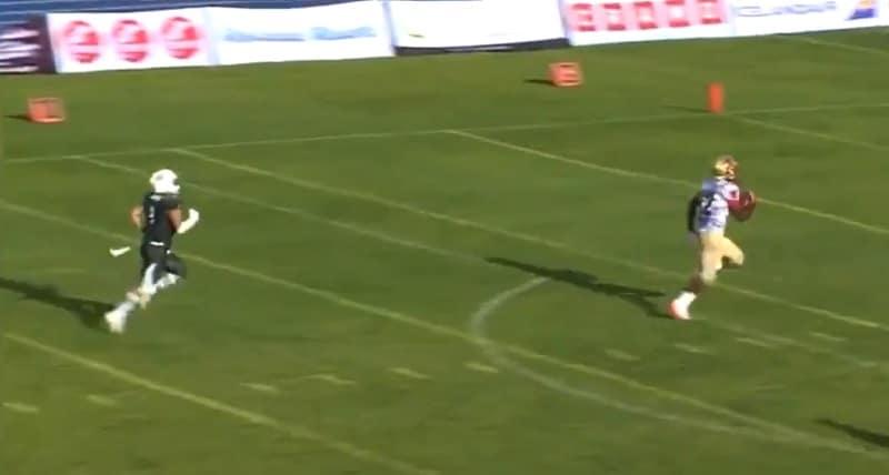 Video: Alpha Jalloh oli täysin pitelemätön Vaahteraliigassa - posketon 92 jaardin touchdown