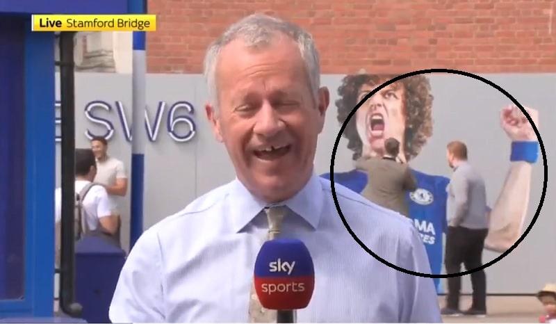 Kuvat ja video: David Luiz sai Chelsea-fanit huvittavasti sotajalalle - varjonyrkkeilyä ja lokakampanja