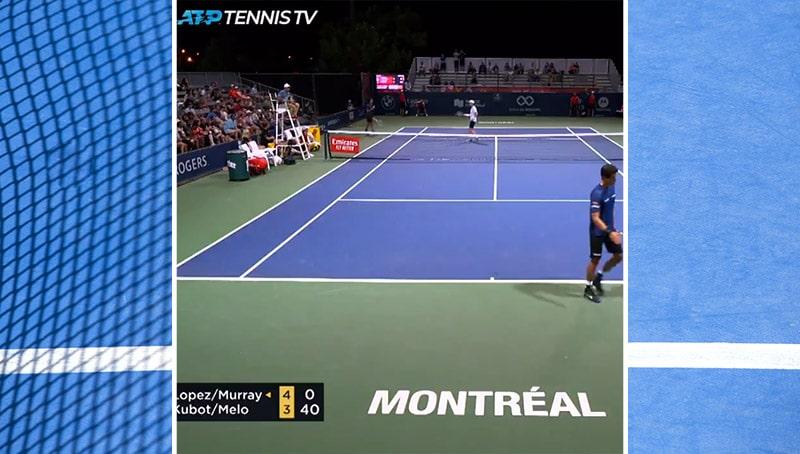 Video: Absurdi kämmi johti vastustajan syötönmurtoon Montrealin ATP Masters -turnauksessa
