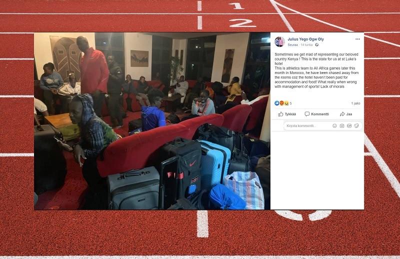 Kenian urheilujärjestö töhöili kunnolla – hotelli jäi maksamatta, urheilijat häädettiin