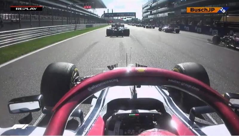Video: Kimi Räikkönen otti varaslähdön Venäjän GP:ssä