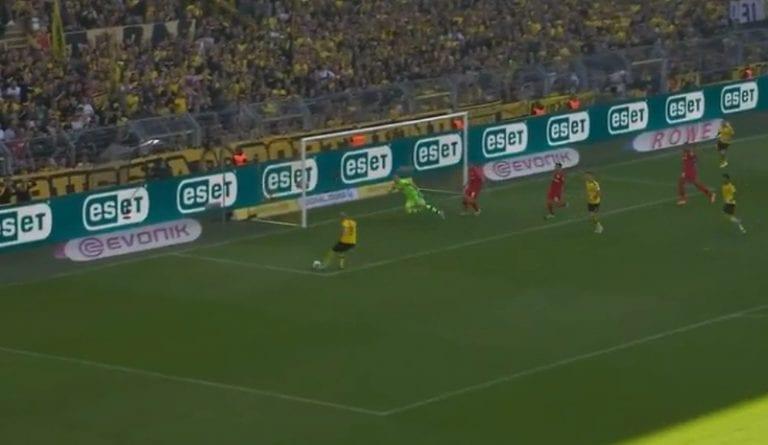 Lukas Hradecky venyi uskomattomaan tuplatorjuntaan Dortmundia vastaan