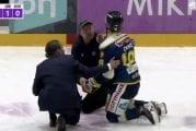 Video: Liigassa jälleen ulosajo – Martin Berger taklasi kiekottoman Kristian Tanuksen aivan pystyyn