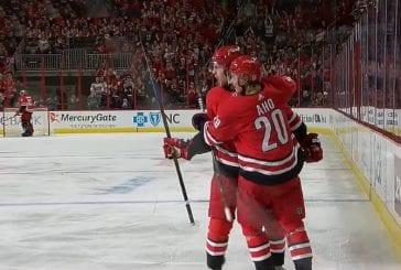Video: KÄSITTÄMÄTÖNTÄ! Sebastian Aho painoi hattutempun – takoi myös oman NHL-uransa ennätystehot