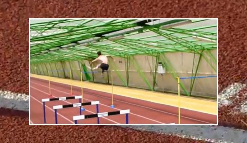 Klassikkovideo: Stefan Holm treenasi uskomattomalla tavalla – loikki 170 cm aitoja