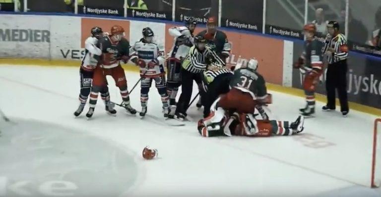 Video: Tanskan liigassa nähtiin täysin brutaali hyökkäys – rangaistuksena 17 ottelun pelikielto