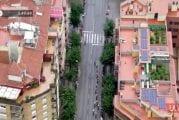 Video: Espanjan ympäriajon helikopterista kuvattu live-lähetys pisti poliisin töihin
