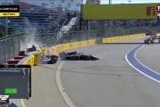 Video: Raju kolari F2-kisassa - Nikita Mazepin ajoi Nobuharu Matshushitan kahdesti päin seinää