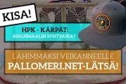 HPK – Kärpät -KISA! - Lähimmäksi veikanneelle upea Pallomeri.net-lätsä!