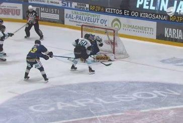 Video: Juhamatti Aaltonen taiteili Pelicansin voittomaalin - kärkimiina ja tyly viimeistely