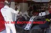 Video: F1-sarja julkaisi koomisen videon - Kimi Räikkösellä pahoja rattiongelmia Monzassa
