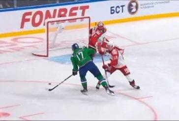 Video: Avtomobilistin Jakub Kovar nollasi Ufan KHL:ssä - huikea tuplatorjunta kirsikkana kakun päällä