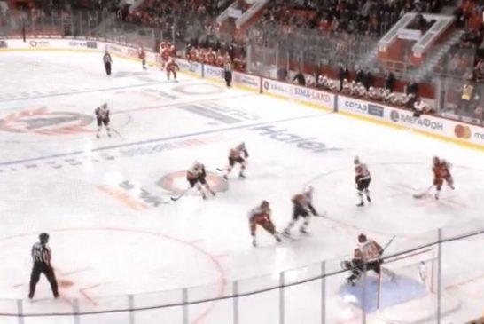 Video: Brooks Macek viimeisteli vastustajan antamasta seinäsyötöstä KHL:ssä