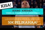 Suomi – Kreikka -KISA! - Lähimmäksi veikanneelle 50€ pelirahaa!