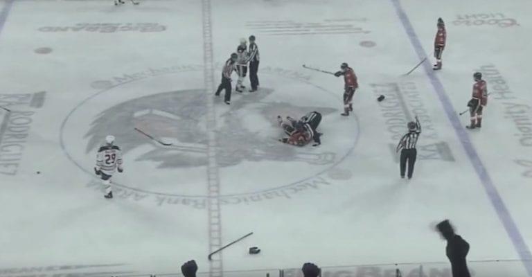 Video: AHL:ssä nähtiin brutaali tappelu – vastustaja tyrmättiin hurjalla iskulla