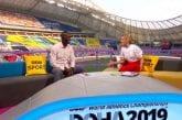 Michael Johnson haukkui Dohan kisat ja Sebastian Coen BBC:n studiossa - mikki olikin päällä