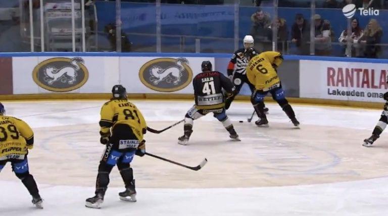 Video: Kärppien Mikko Niemelä iski varmasti uransa erikoisimman osuman