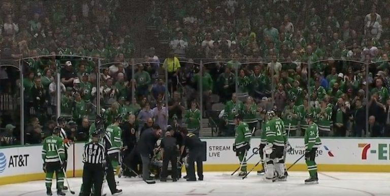 Video: NHL:ssä nähtiin todella epäonninen tilanne – Roman Polak kannettiin paareilla ulos kaukalosta