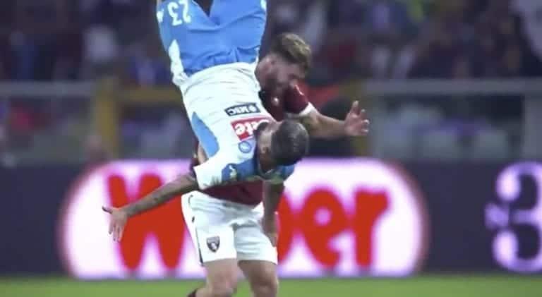 Video: Serie A:ssa nähtiin karmiva loukkaantuminen – Napoli-puolustajan rintalasta murtui