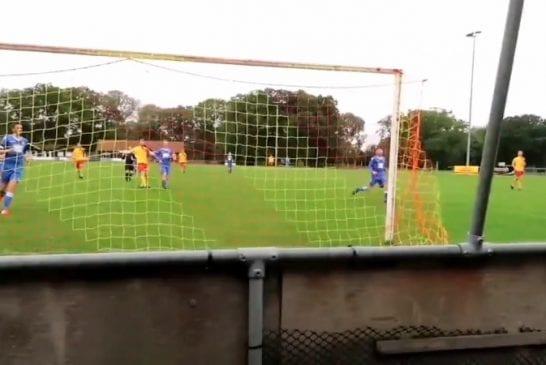 Video: Kälyinen maaliverkko petti Englannin alasarjassa - pallo sujahti läpi, maalia ei hyväksytty