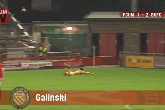 Video: Hämmästyttävä maali Englannin alasarjassa - Stefan Galinski teki puskumaalin omalta kenttäpuoliskolta