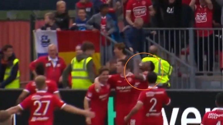 Video: Shayon Harrison juhli maalia juomalla häntä kohti heitetyn oluen