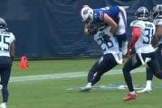 Video: Dawson Knox yritti lieventää kontaktia NFL:ssä - taklaus osuikin arkaan paikkaan