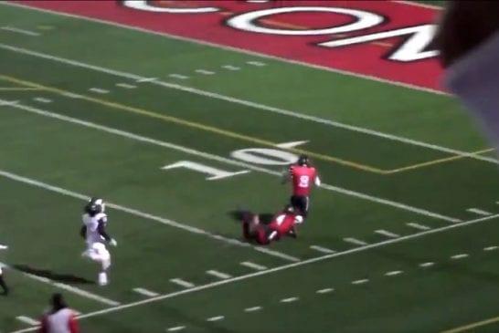 Video: Pelaaja juoksi kohti omaa maalialuetta - Kha'Ron Thrower joutui kaatamaan joukkuetoverinsa