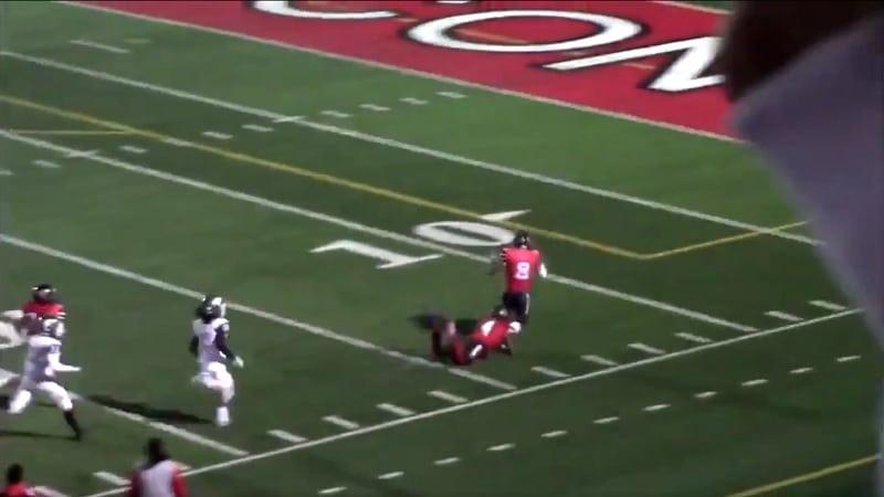 Video: Pelaaja juoksi kohti omaa maalialuetta – Kha'Ron Thrower joutui kaatamaan joukkuetoverinsa