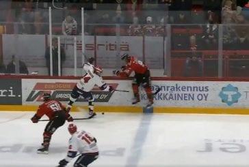 Video: Ässien Teemu Vuorisalo sai kolmen ottelun pelikiellon HIFK-ottelun taklauksestaan