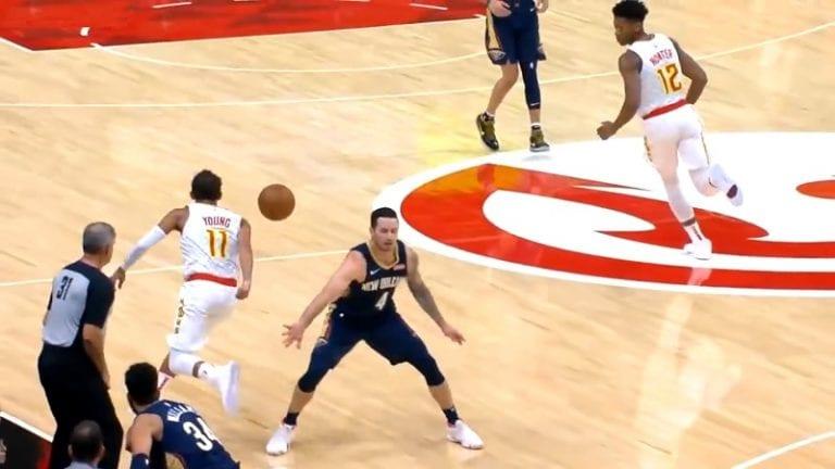 Video: Trae Young nolasi vastustajan NBA:ssa – pisti pallon puikoista läpi ja ajoi korille