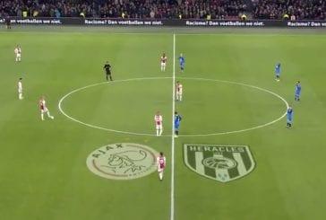 Video: Ajax-Heracles-pelissä seisottiin ensimmäinen minuutti – protestoitiin rasismia vastaan