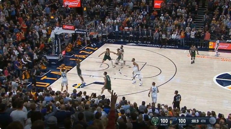 Video: Bojan Bogdanovic upotti viimeisen sekunnin voittokolmosen Utah Jazzille