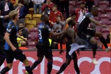 VIdeo: Club Brugge -pelaajat sekoilivat Mestarien liigassa – maalituuletus toi kahdelle punaisen kortin