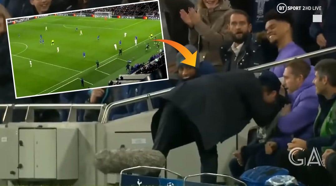 """Video: Pallopoika sai """"syöttöpisteen"""" Tottenhamin maaliin – Jose Mourinho kävi halaamassa nuorukaista"""