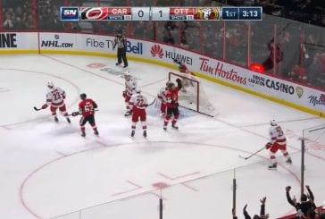 Video: NHL:ssä todella erikoinen tilanne - Ottawa maalasi kaksi kertaa neljään sekuntiin