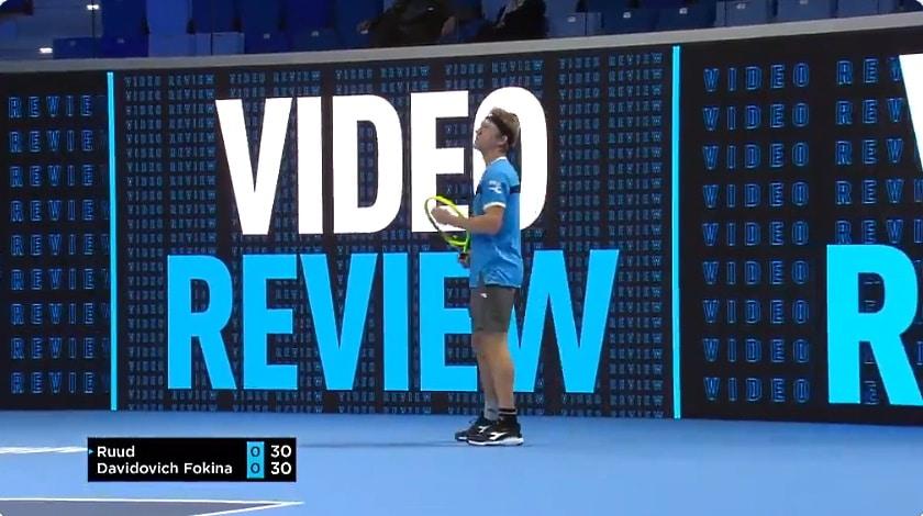 Video: Milanossa nähtiin tennishistorian ensimmäinen VAR-tuomio