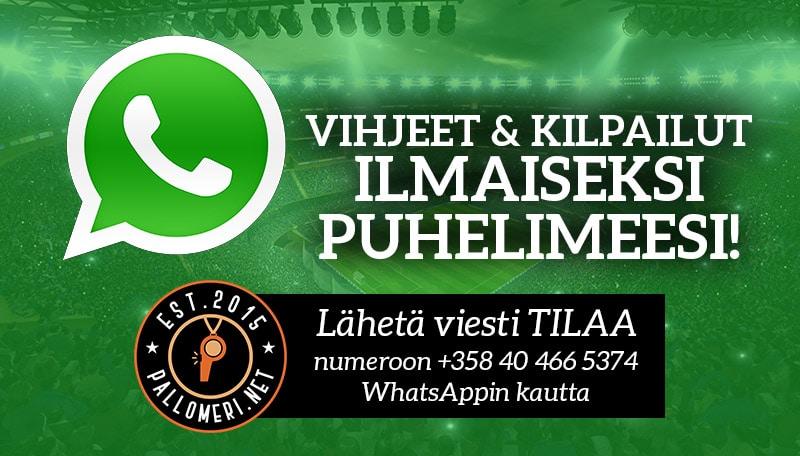 Whatsapp Pallomeri.net vetovihjeet kampanjat puhelimeen