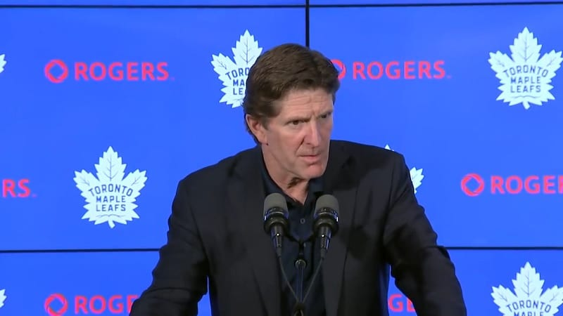 Mike Babcock Toronto Maple Leafs / Pallomeri.net