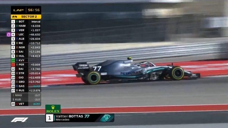 Valtteri Bottas voitti USA:n GP:n – Lewis Hamilton varmisti maailmanmestaruuden