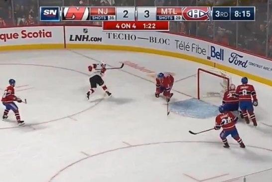Video: New Jersey Devils ampui kaksi kertaa tyhjistä ohi kahden sekunnin sisään