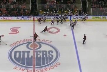 Video: Edmonton sai jäähyn väärästä vaihdosta - New Jerseyllä kahdeksan pelaajaa jäällä